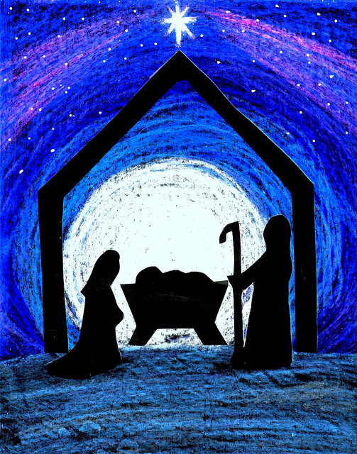 Nativity Scene Silhouette Vector Images & Pictures - Becuo
